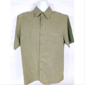 Quiksilver Men's Shirt Medium Brown Short Sleeve